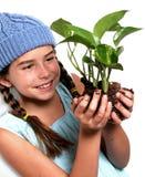 νεολαίες φύσης κοριτσιώ& Στοκ Εικόνα