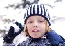 νεολαίες χιονιού αγοριών Στοκ εικόνα με δικαίωμα ελεύθερης χρήσης