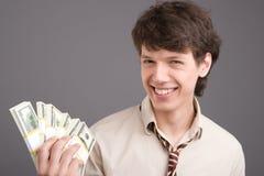 νεολαίες χρημάτων επιχειρηματιών στοκ εικόνες
