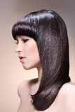 νεολαίες brunette ομορφιάς headshot στοκ φωτογραφία