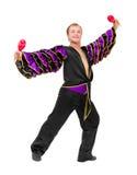 νεολαίες maracas χορευτών Στοκ φωτογραφίες με δικαίωμα ελεύθερης χρήσης