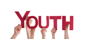 Νεολαία εκμετάλλευσης χεριών στοκ εικόνα