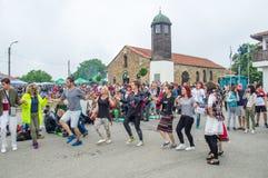Νεολαία χορού στα παιχνίδια Nestenar στη Βουλγαρία Στοκ Φωτογραφία
