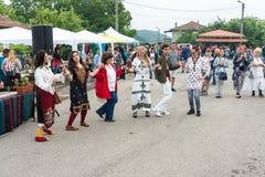 Νεολαία χορού στα παιχνίδια Nestinar στη Βουλγαρία Στοκ Φωτογραφία