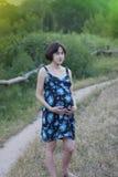 νεολαίες έγκυων γυναικών Στοκ εικόνα με δικαίωμα ελεύθερης χρήσης