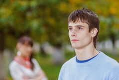 νεολαίες γυναικών ανδρών στοκ εικόνα με δικαίωμα ελεύθερης χρήσης
