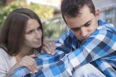νεολαίες ζευγών Σύγκρουση Στοκ εικόνα με δικαίωμα ελεύθερης χρήσης