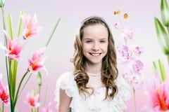 νεολαίες κοριτσιών κήπων Στοκ Φωτογραφία
