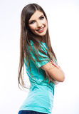Νεολαίες που χαμογελούν την ευτυχή γυναίκα Στοκ εικόνα με δικαίωμα ελεύθερης χρήσης
