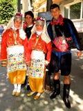 Νεολαίες στο παραδοσιακό τουρκικό φόρεμα Ιστανμπούλ, Τουρκία Στοκ Εικόνες