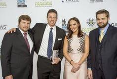 Νεολαίες του Jake, Chris Cuomo, Cristina Greeven Cuomo, και Marshall Peters Στοκ φωτογραφία με δικαίωμα ελεύθερης χρήσης