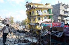 Νεπάλ-σεισμός-ΘΥΜΑΤΑ Στοκ Εικόνες