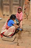 νεπαλική γυναίκα παιδιών Στοκ Φωτογραφία