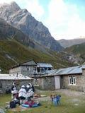 Νεπαλική αποστολή στο στρατόπεδο βάσεων Tilicho, Νεπάλ Στοκ Εικόνα
