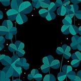Νεράιδα και κομψό πλαίσιο τριφυλλιού Άγιος Πάτρικ Day Background Διανυσματική απεικόνιση για την άνοιξη τύχης ή θερινό σχέδιο με απεικόνιση αποθεμάτων