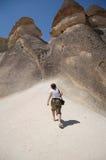 νεράιδα καπνοδόχων cappadocia goreme Στοκ εικόνα με δικαίωμα ελεύθερης χρήσης