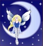 Νεράιδα μεσάνυχτων καληνύχτας ελεύθερη απεικόνιση δικαιώματος