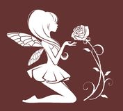 Νεράιδα με ένα λουλούδι ελεύθερη απεικόνιση δικαιώματος