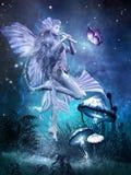 Νεράιδα με το μαγικό φλάουτο Στοκ Φωτογραφία