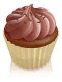 νεράιδα σοκολάτας κέικ cupcake Στοκ φωτογραφία με δικαίωμα ελεύθερης χρήσης