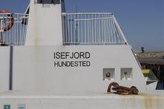 Νεράιδα Isefjord hundeste Στοκ Φωτογραφίες