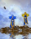 νεράιδες δύο Στοκ εικόνα με δικαίωμα ελεύθερης χρήσης