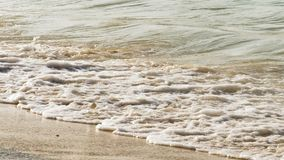 Νερά της θάλασσας, κύματα αφρού απόθεμα βίντεο