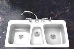 Νεροχύτης κουζινών στοκ φωτογραφία με δικαίωμα ελεύθερης χρήσης
