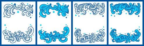 Νερού παφλασμών διανυσματικό σύνολο προτύπων αντιγράφων διαστημικό ελεύθερη απεικόνιση δικαιώματος