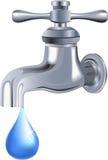 νερό βρύσης στροφίγγων Στοκ Εικόνα