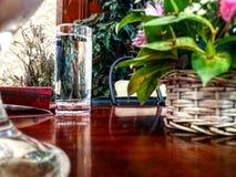 Νερό γυαλιού Στοκ Φωτογραφίες