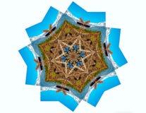Νερό και βουνά Mandala φύσης απεικόνιση αποθεμάτων