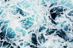 Νερό, μπλε φυσαλίδες, Tyrrhenian θάλασσα, υπόβαθρο Στοκ Εικόνα