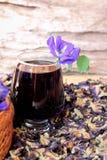 Νερό λουλουδιών Anchan και φρέσκια anchan πορφύρα λουλουδιών Στοκ Φωτογραφία