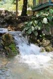 Νερό που πέφτει από τους βράχους Στοκ Εικόνα