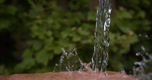 Νερό που πέφτει και που καταβρέχει, Νορμανδία, απόθεμα βίντεο