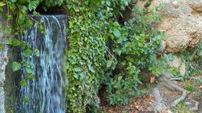Νερό που ρέει μεταξύ των πετρών και των ροών κάτω φιλμ μικρού μήκους