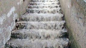 Νερό πλημμύρας απόθεμα βίντεο