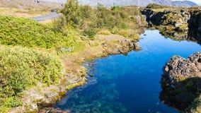 νερό στη γήινη ρωγμή στο εθνικό πάρκο Thingvellir Στοκ φωτογραφία με δικαίωμα ελεύθερης χρήσης