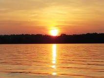 νερό της λίμνης belews nc στοκ εικόνα