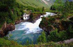 Νερό Trollstigen ρέοντας γρήγορα στοκ φωτογραφίες με δικαίωμα ελεύθερης χρήσης
