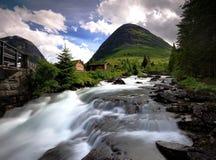 Νερό Trollstigen ρέοντας γρήγορα στοκ φωτογραφία
