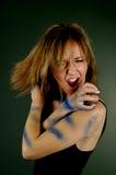 νευρική γυναίκα Στοκ φωτογραφία με δικαίωμα ελεύθερης χρήσης