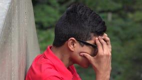 Νευρωτικός έφηβος με την πίεση και την ανησυχία στοκ φωτογραφίες με δικαίωμα ελεύθερης χρήσης