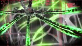 Νευρώνες που στέλνουν τα σήματα απεικόνιση αποθεμάτων
