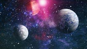 Νεφέλωμα και αστέρια στο μακρινό διάστημα Στοιχεία αυτής της εικόνας που εφοδιάζεται από τη NASA Στοκ Εικόνες