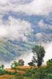 νεφελώδες τοπίο Θιβετι& στοκ εικόνες
