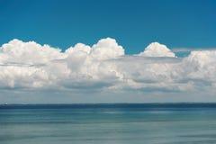 νεφελώδες seascape Στοκ Εικόνα