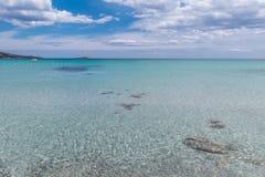 Νεφελώδης ημέρα στην παραλία παραδείσου Στοκ Εικόνα