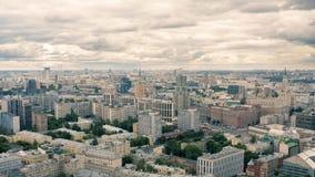 Νεφελώδης ημέρα στη Μόσχα απόθεμα βίντεο